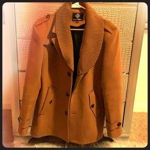 Other - Men's Brown Pea Coat!!! Very Nice!